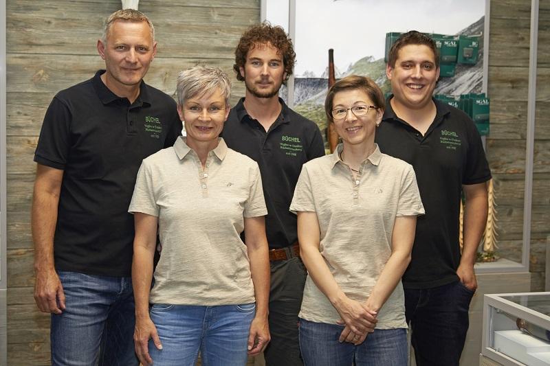Unser Team: Christof Büchel, Conny Büchel, Ronny Luck, Nathalie Jordan und Ramon Segmüller